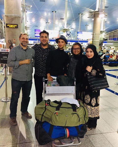 صبا راد  و همسرش آقای توریست را نجات دادند+عکس