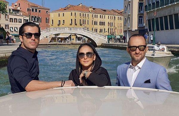 هدی زین العابدین و دوستانش در ونیز + عکس