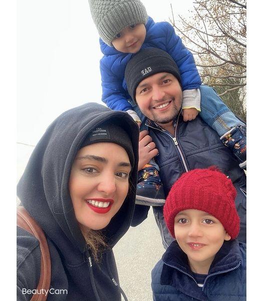 نرگس محمدی در کنار برادر و برادرزاده هایش + عکس