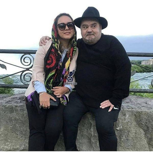 اکبر عبدی و دخترش + عکس