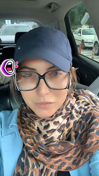 فریبا نادری در ماشین شخصیش + عکس