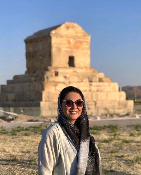 سفر لاله اسکندری به شیراز + عکس