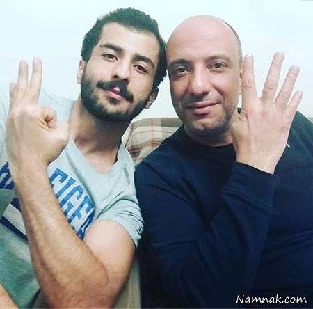 شیطنت امیرجعفری و برادر زاده بازیگرش+عکس