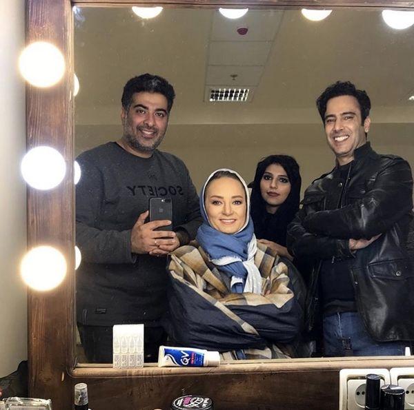 نیما فلاح و سحر ولدبیگی در پشت صحنه فیلم جدیدشون + عکس