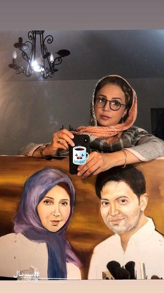 تابلو نقاشی عجیب شبنم قلی خانی + عکس