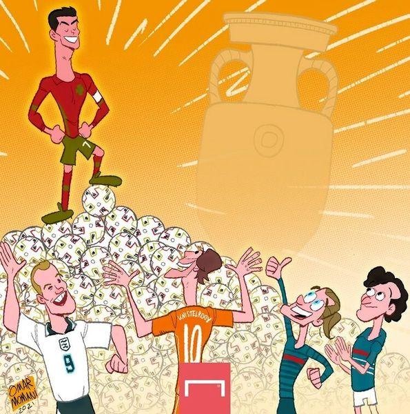 رکورد جدید رونالدو در یورو ۲۰۲۰ / کاریکاتور