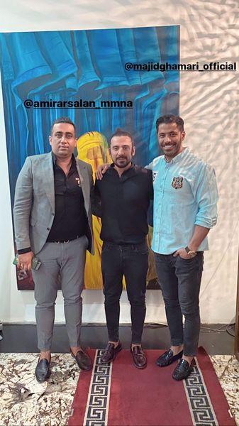 امیرعباس گلاب در میان دوستانش + عکس