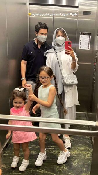 عکس آسانسوری خانواده استخری