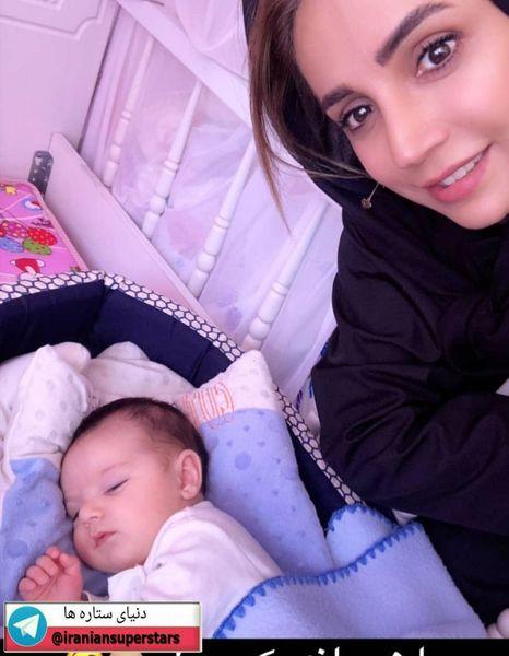 شبنم قلی خانی در کنار نوزاد جدیدش+عکس