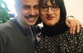 ارژنگ امیرفضلی با گریمی متفاوت در آغوش بازیگر مشهور + عکس