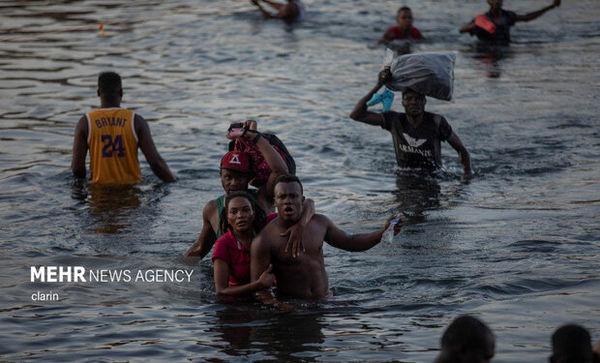 بلاتکلیفی پناهجویان در مرز آمریکا + تصاویر