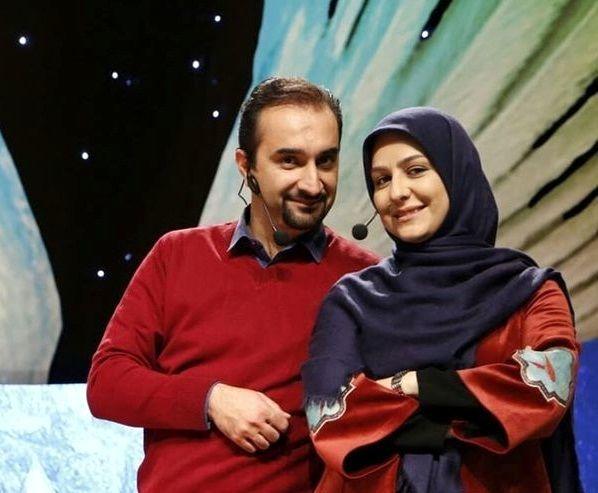 زوج مجری مشهور در کنار هم + عکس
