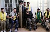 دیدار جمعی از جانبازان حزبالله لبنان با رهبر انقلاب
