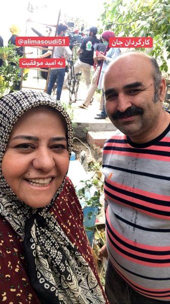 رابعه اسکویی در کنار کارگردان ونویسنده معروف + عکس