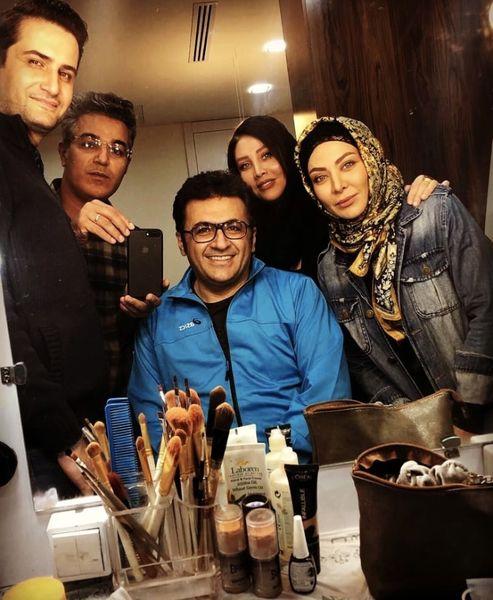 شهرامعبدلی در پشت صحنه سریال جدیدش + عکس