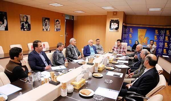 برگزاری جلسه ی شورای فنی تیمهای ملی کشتی آزاد در حضور خادم