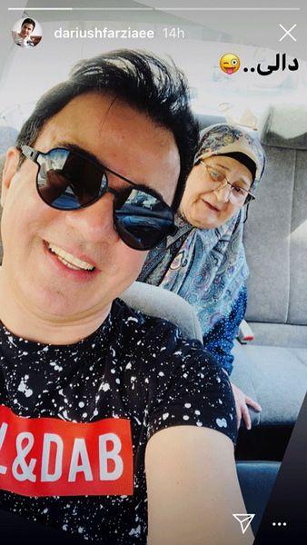شیطنت مادر عمو پورنگ در ماشین+عکس