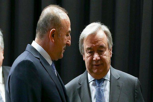 وزیر خارجه ترکیه با دبیرکل سازمان ملل رایزنی کرد