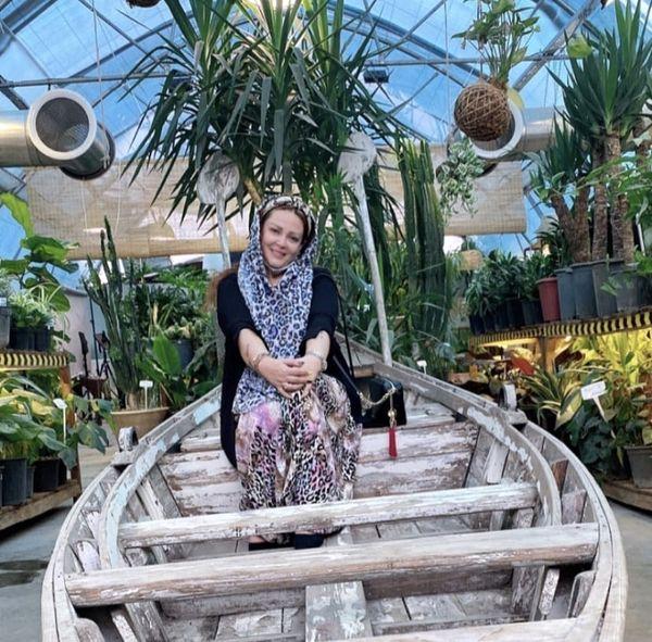 قایق سواری بهاره رهنما + عکس