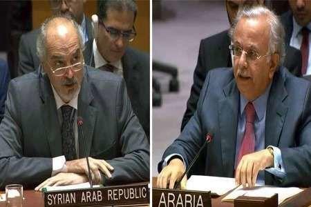 نماینده سوریه در شورای امنیت نماینده سعودی را ضربه فنی کرد