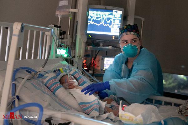 تصاویری تلخ از نوزادان مبتلا به کرونا در بیمارستان