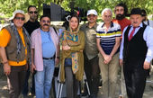 عکس بهاره کیانافشار در پشت صحنه فیلم سهراب سپهری