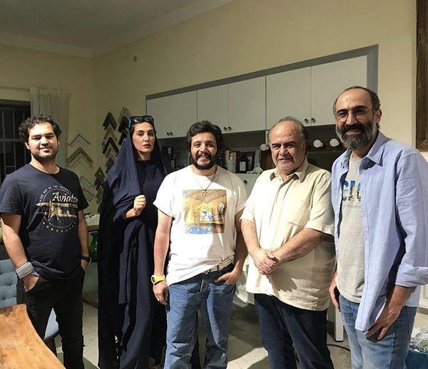 هادی حجازی فر در جمع دوستان نمایشی اش + عکس