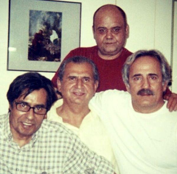 مجید مظفری در دوران جوانی در کنار بازیگران مشهور + عکس