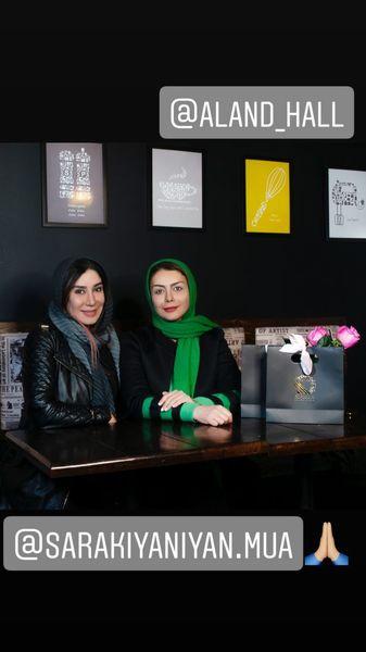 شبنم فرشادجو و نسیم ادبی در یک کافه + عکس