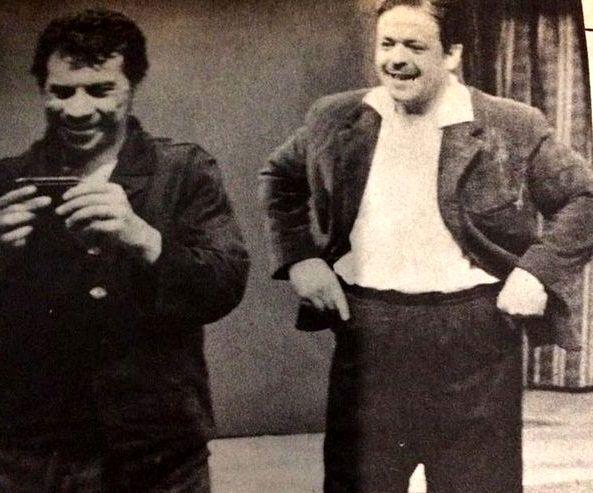 مرحوم محمدعلی کشاورز و داوود رشیدی در جوانی + عکس