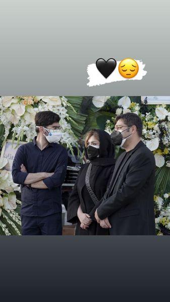 نیوشا ضیغمی و همسرش در مراسم ختم + عکس