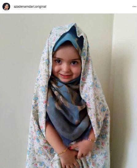 دختر کوچولوی محجبه آزاده نامداری + عکس