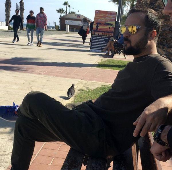 احمد مهرانفر در پارک + عکس