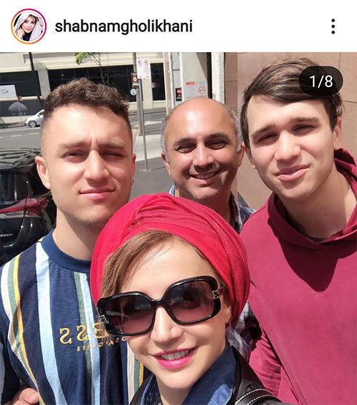 شبنم قلی خانی و برادرزاده های رشیدش+عکس