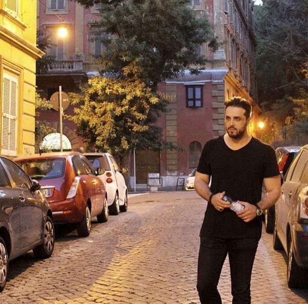 تیپ پدرام کریمی در خیابان های رم + عکس