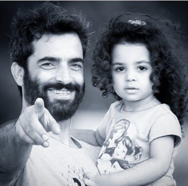 منوچهر هادی و دخترش + عکس
