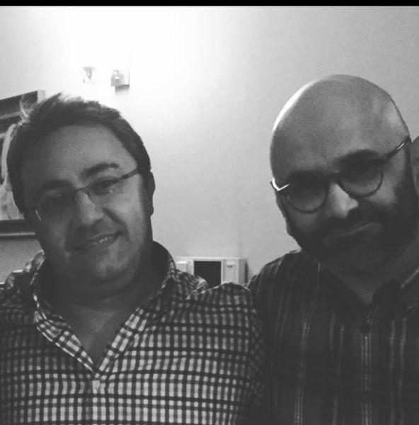 حبیب رضایی در کنار دوستش + عکس