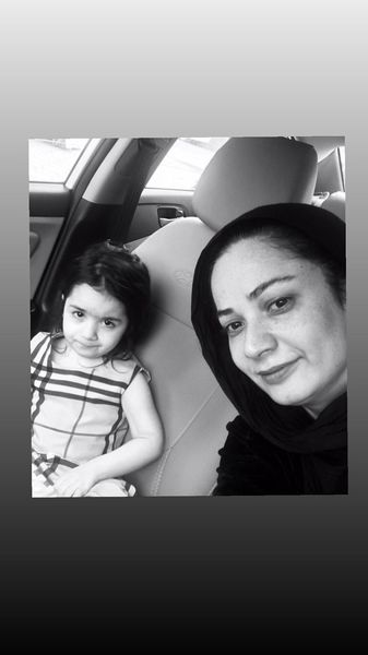 نسرین نصرتی و دخترش در ماشین + عکس