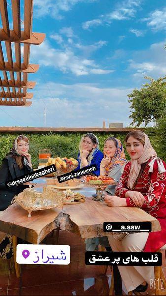 دورهمی نفیسه روشن و دوستانش در شیراز + عکس