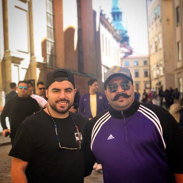 بهنام بانی و دوستش در خارج از کشور + عکس