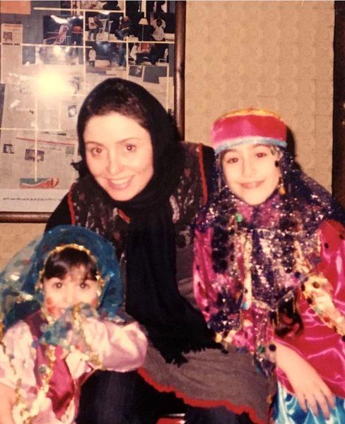ژاله صامتی و دخترانش در کودکی + عکس