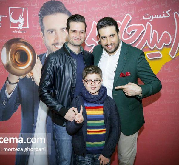 آقای بازیگر و پسرش در کنسرت امید حاجیلی + عکس
