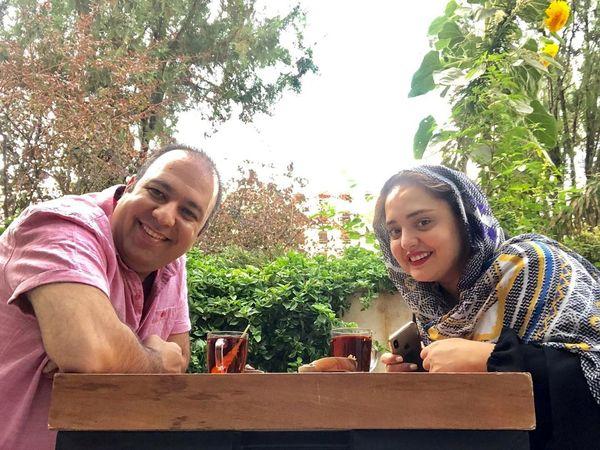 گردش نرگس محمدی با گریم سنگین اش+عکس