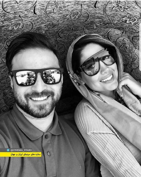 عینک های خاص بابک جهانبخش و همسرش+عکس