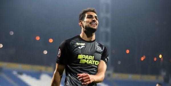 درخشش مهاجم ایرانی در لیگ فوتبال اوکراین