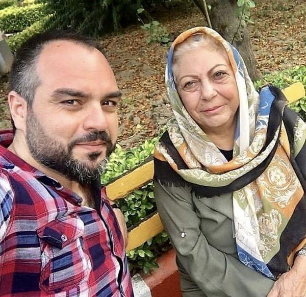 سلفی شهرام قائدی با بانوی پیشکسوت سینما + عکس