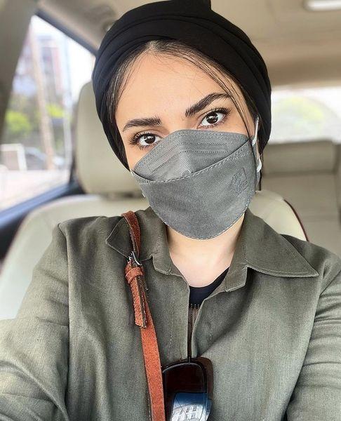 سمیرا حسن پور در ماشین شخصی اش + عکس
