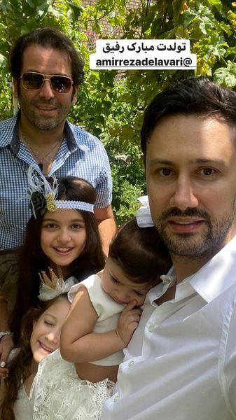 دو بازیگر مشهور در کنار فرزندانشان + عکس