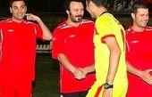 مسابقه فوتبال با حضور عادل فردوسی پور و کامبیز دیرباز  +عکس