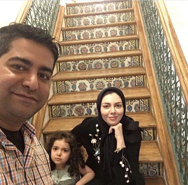 گردش آزاده نامداری با دختر و همسرش + عکس